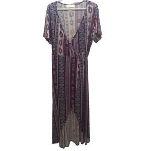 Love Kuza Plus Size Pattern Wrap High Low Dress